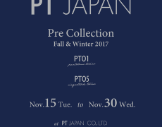 Fall&Winter 2017 Pre Collection 展示会のご案内